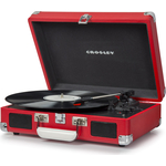 Виниловый проигрыватель CROSLEY CRUISER DELUXE [CR8005D-RE] red c Bluetooth