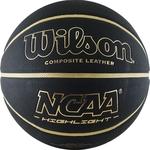 Купить Баскетбольный мяч Wilson NCAA Highlight Gold WTB067519XB07 р.7технические характеристики фото габариты размеры