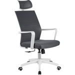 Кресло Riva Chair RCH A819 белый пластик/серая сетка
