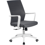 Кресло Riva Chair RCH B819 белый пластик/серая сетка