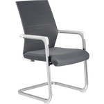 Кресло Riva Chair RCH D819 белый пластик/серая сетка (на полозьях)