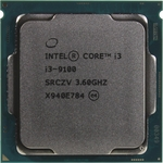 Процессор Intel Intel Core i3-9100 Coffee Lake OEM (3.60Ггц, 6МБ, Socket 1151v2)