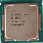 Процессор Intel Intel Core i7-8700 Coffee Lake OEM (3.20Ггц,12МБ, Socket 1151)