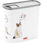 Контейнер для корма CURVER DRY FOOD DISPENSER 2L-WHTIML-STD 7,5x18,5x19,5 см (241100)