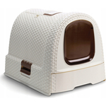 Туалет CURVER CAT LITTER BOX VINT (1/CT) 016 white 38,5x40x51 см (198849)