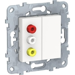 Розетка Schneider Electric 3xRCA Unica New NU543118