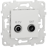 Розетка Schneider Electric R-TV/SAT одиночная Unica New NU545418
