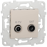 Розетка Schneider Electric R-TV/SAT одиночная Unica New NU545444