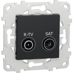 Розетка Schneider Electric R-TV/SAT одиночная Unica New NU545454
