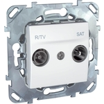 Розетка Schneider Electric R-TV/SAT оконечная Unica MGU5.455.18ZD