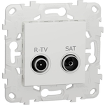Розетка Schneider Electric R-TV/SAT оконечная Unica New NU545518