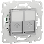 Розетка Schneider Electric компьютерная RJ45X2 Unica New Cat. 5e UTP NU542030