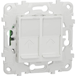 Розетка Schneider Electric компьютерная RJ45X2 Unica New Cat. 6 UTP NU542418
