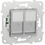 Розетка Schneider Electric компьютерная RJ45X2 Unica New Cat. 6 UTP NU542430