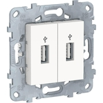 Розетка Schneider Electric компьютерная USBx2 Unica New NU542718