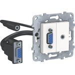 Розетка Schneider Electric компьютерная VGA+Minijack Unica New NU593218