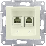 Розетка Schneider Electric телефонная 2xRJ11 Sedna SDN4201147