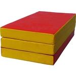 Купить Мат складной КМС номер 4 (100x150x10см) красный/жёлтый купить недорого низкая цена