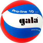 Купить Мяч волейбольный Gala Pro-Line 10 размер 5, цвет бело-голубо-красный (BV5581S) купить недорого низкая цена