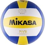 Купить Мяч волейбольный Mikasa MV5PC, размер 5, цвет бел-син-желт купить недорого низкая цена