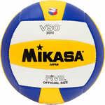 Купить Мяч волейбольный Mikasa VSO2000, размер 5, цвет бел-жел-син купить недорого низкая цена