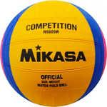 Купить Мяч для водного поло Mikasa W6609W, размер женский, цвет желто-сине-розовый купить недорого низкая цена