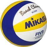 Купить Мяч для пляжного волейбола Mikasa VLS300 Beach Champ, размер 5, цвет бел-син-жел купить недорого низкая цена