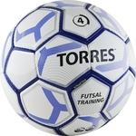 Купить Мяч футзальный Torres Futsal Training, (арт. F30104/F30644), размер 4, цвет: бело-черно-серебр купить недорого низкая цена