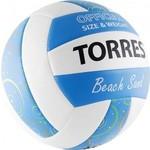 Купить Мяч волейбольный Torres любительский (для пляжа) Beach Sand Blue арт. V30095B, размер 5, бел-голуб-мультиколор купить недорого низкая цена