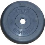 Купить Диск обрезиненный Atlet 31 мм. 5 кг. черный купить недорого низкая цена