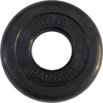 Купить Диск обрезиненный Atlet 51 мм. 1.25 кг. черный купить недорого низкая цена