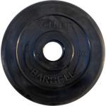 Купить Диск обрезиненный Atlet 51 мм, 10 кг черный купить недорого низкая цена