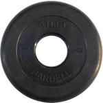 Купить Диск обрезиненный Atlet 51 мм. 2.5 кг. черный купить недорого низкая цена