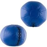 Купить Медбол 2 кг, (d17.5 см, наполнитель- резиновая крошка, клапан на шнуровке, машинная сшивка, синий) купить недорого низкая цена