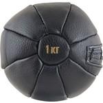 Купить Медбол 1 кг, (d 14 см, наполнитель- резиновая крошка, клапан на шнуровке, машинная сшивка, черный) купить недорого низкая цена