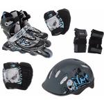 Купить Роликовый набор Action PW-117C (коньки, защита, шлем) р. 34-37 купить недорого низкая цена