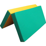 Купить Мат КМС № 3 (100 х 100 10) складной зелёно/жёлтый купить недорого низкая цена