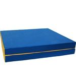 Купить Мат КМС № 8 (100 х 200 10) складной 1 сложение сине/жёлтый (1832) купить недорого низкая цена
