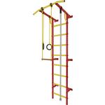 Купить Шведская стенка Лидер С-03 красно/жёлтый купить недорого низкая цена