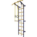 Купить Шведская стенка Лидер С-01 М сине/жёлтый купить недорого низкая цена