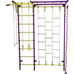 Купить Детский спортивный комплекс Пионер С4Л пурпурно/жёлтыйтехнические характеристики фото габариты размеры