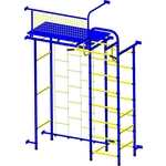 Купить Детский спортивный комплекс Пионер 10Л сине/жёлтый