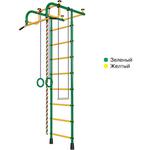 Купить Детский спортивный комплекс Пионер 1М зелено/желтый купить недорого низкая цена