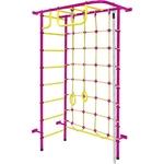 Купить Детский спортивный комплекс Пионер 8 пурпурно/жёлтыйтехнические характеристики фото габариты размеры