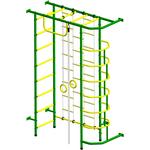 Купить Детский спортивный комплекс Пионер 9ЛМ зелёно/жёлтыйтехнические характеристики фото габариты размеры