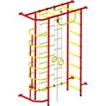 Купить Детский спортивный комплекс Пионер 9ЛМ красно/жёлтыйтехнические характеристики фото габариты размеры