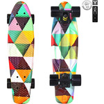 "Скейтборд RT 401G-T Fishskateboard Print 22"" винил 56,6х15 с сумкой Triddent"