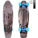 "Скейтборд RT 402H-Bb Big Fishskateboard metallic 27"" винил 68,6х19 с сумкой BLACK BRONZAT/blue"