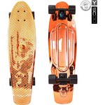 "Скейтборд RT 402H-O Big Fishskateboard metallic 27"" винил 68,6х19 с сумкой ORANGE/black"