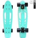 "Скейтборд RT 405-A Skateboard Fishbone с ручкой 22"" винил 56,6х15 с сумкой AQUA/black"
